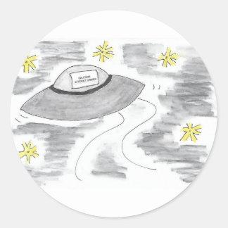 Adesivo Redondo Aniversário do UFO