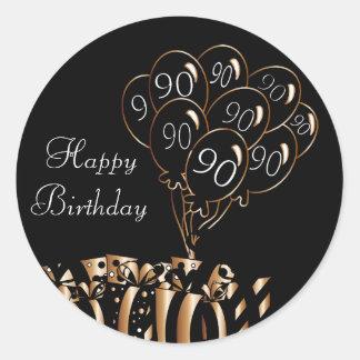 Adesivo Redondo Aniversário feliz do 90