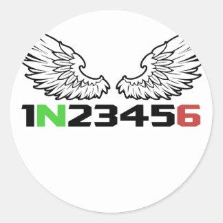 Adesivo Redondo anjo 1N23456