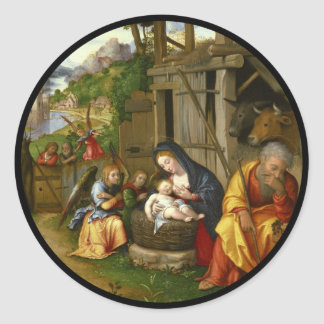 Adesivo Redondo Anjos c1515 da natividade e da criança