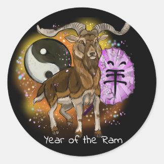 Adesivo Redondo Ano chinês da ram