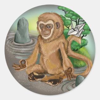 Adesivo Redondo Ano chinês do zodíaco do macaco