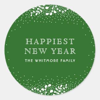 Adesivo Redondo Ano novo verde
