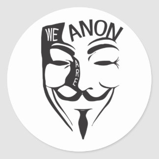 Adesivo Redondo Anónimo