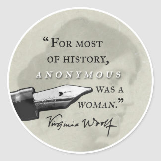Adesivo Redondo Anónimo era um circl das citações de Virgínia