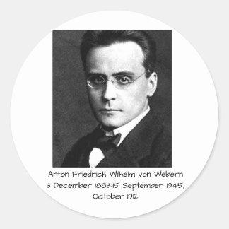 Adesivo Redondo Anton Friedrich Wilhelm von Webern