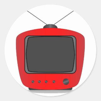 Adesivo Redondo Aparelho de televisão velho