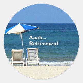Adesivo Redondo Aposentadoria de Aaah…, relaxando na praia