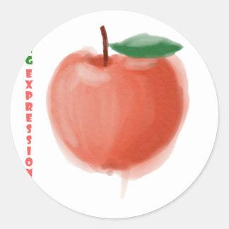 Adesivo Redondo Apple