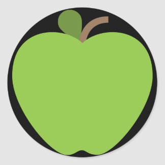 Adesivo Redondo Apple verde Emoji