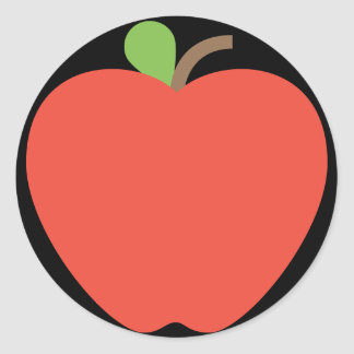 Adesivo Redondo Apple vermelho Emoji