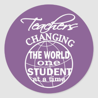 Adesivo Redondo Apreciação do professor que muda o mundo