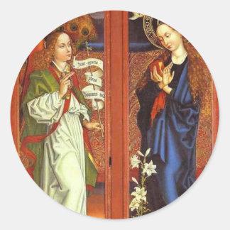 Adesivo Redondo Arcanjo Gabriel - aviso - Schongauer