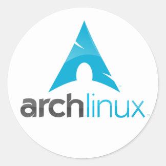 Adesivo Redondo arch linux logo