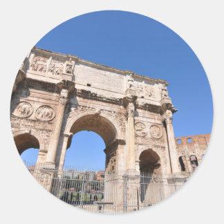 Adesivo Redondo Arco em Roma, Italia