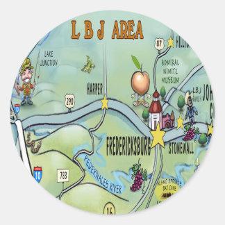 Adesivo Redondo Área de LBJ