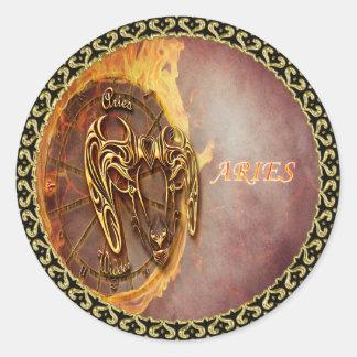 Adesivo Redondo Aries horóscopo do 21 de março até o 20 de abril