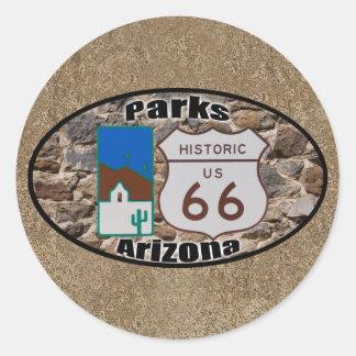 Adesivo Redondo Arizona histórica dos parques da rota 66 dos E.U.