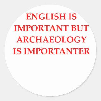 Adesivo Redondo arqueologia