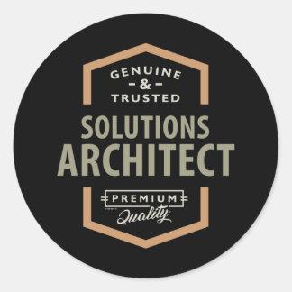 Adesivo Redondo Arquiteto das soluções