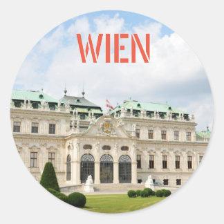 Adesivo Redondo Arquitetura em Viena, Áustria
