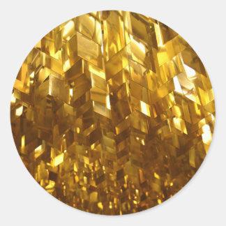 Adesivo Redondo Arte abstracta do teto do ouro