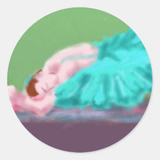Adesivo Redondo Arte de descanso do balé