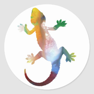 Adesivo Redondo Arte do geco