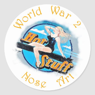 Adesivo Redondo Arte do nariz de WW 2