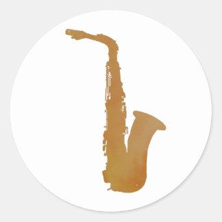 Adesivo Redondo Arte do saxofone