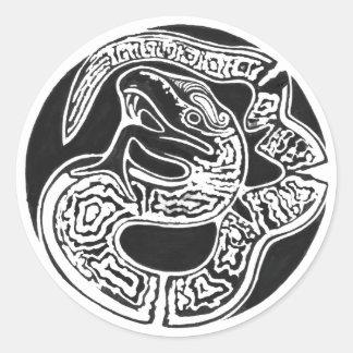 Adesivo Redondo Arte mexicana, renascimento