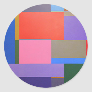 Adesivo Redondo Arte moderna/Mondrian