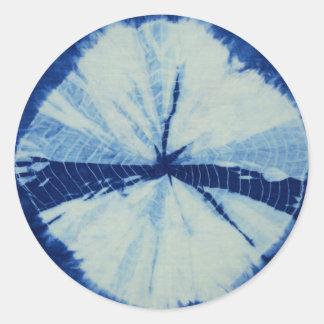 Adesivo Redondo Arte redonda do círculo do índigo de DSC03486.JPG
