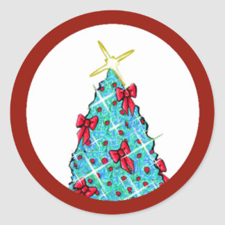 Adesivo Redondo Árvore de Natal de KiniArt