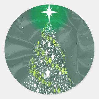 Adesivo Redondo Árvore de Natal de seda