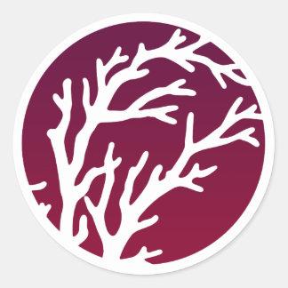 Adesivo Redondo Árvore de rodas de creme