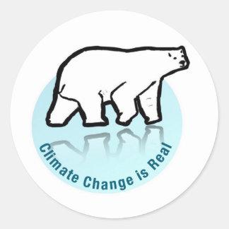 Adesivo Redondo As alterações climáticas são reais
