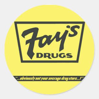Adesivo Redondo As drogas do Fay | o saco amarelo imortal