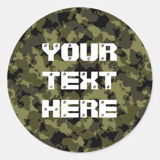 Adesivo Redondo As forças armadas da camuflagem denominam