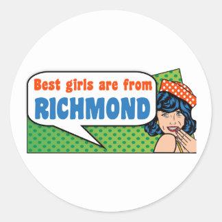 Adesivo Redondo As melhores meninas são de Richmond