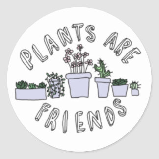Adesivo Redondo As plantas são amigos