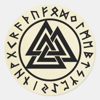Adesivo Redondo Asatru, religião velha dos noruegueses, símbolos,
