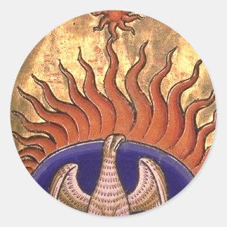 Adesivo Redondo Ascensão de Phoenix das cinzas