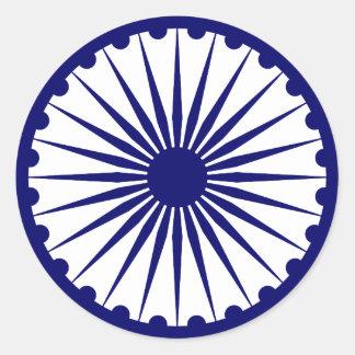 Adesivo Redondo Ashoka Chakra, bandeira de India