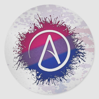 Adesivo Redondo Ateu bissexual do orgulho