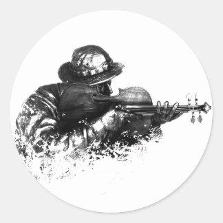 Adesivo Redondo atirador furtivo do violino