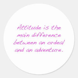 Adesivo Redondo Atitude - calvário ou aventura