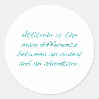 Adesivo Redondo Atitude -- calvário ou aventura (verde)