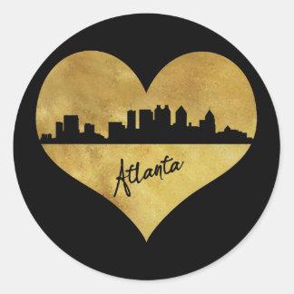 Adesivo Redondo Atlanta