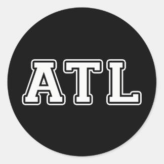 Adesivo Redondo Atlanta Geórgia